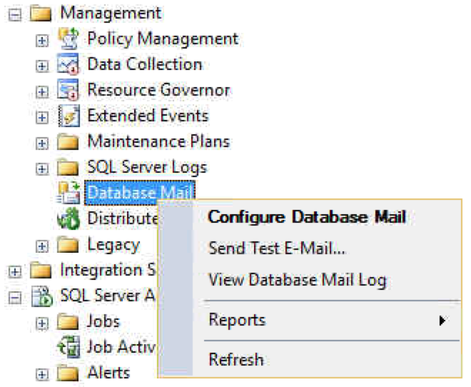 Configure SQL Database Mail